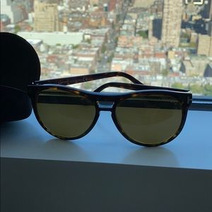 Tom ford sunglasses brown with yellow tinted glass